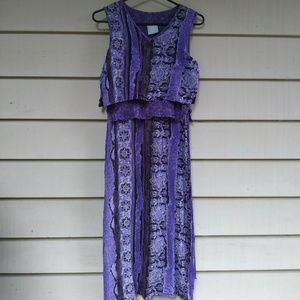 Vintage Purple layered bohemian boho dress